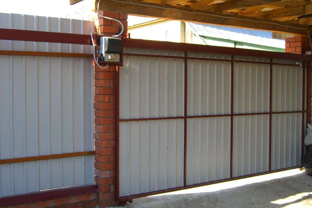 Как сделать откатные подвесные ворота