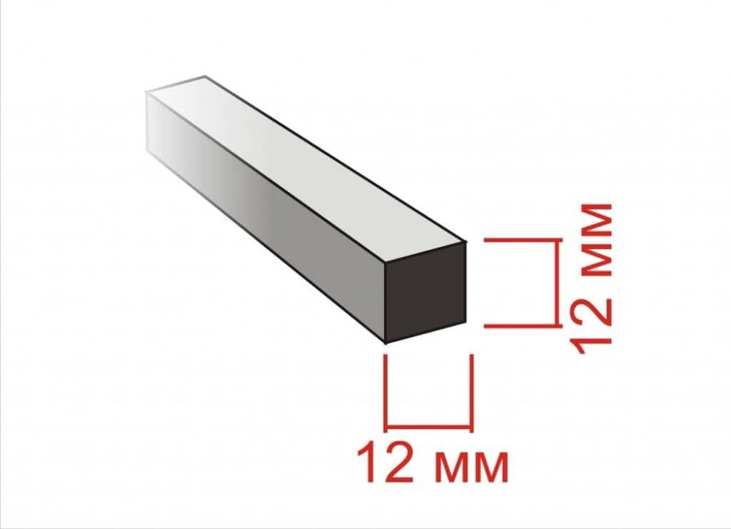 Материал для изготовления кованого рисунка забора квадрат 12х12