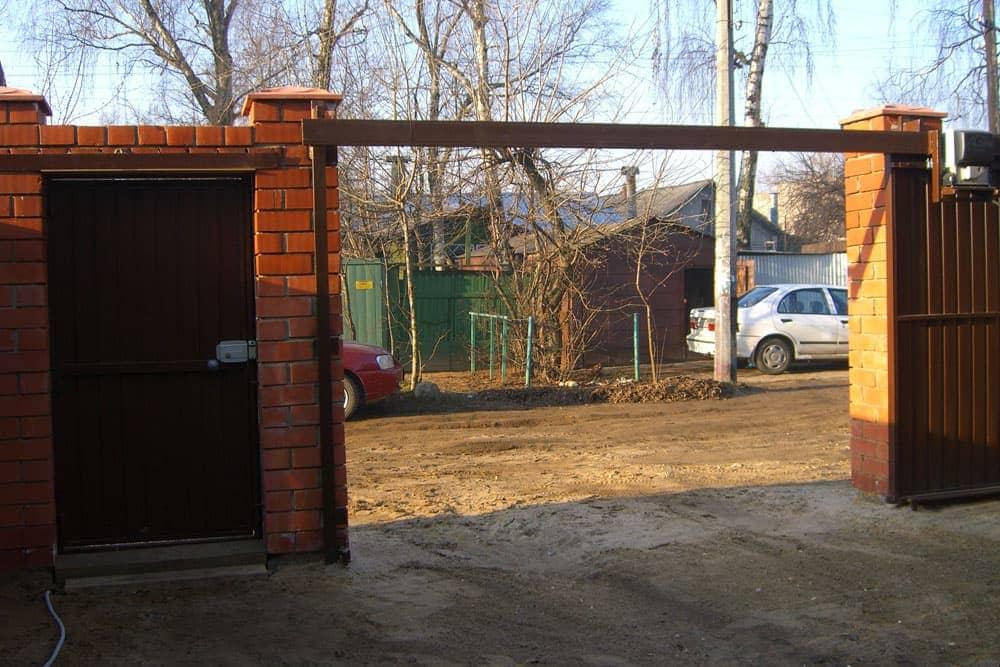 Ворота откатные подвесные фото
